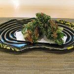 43848789 - 菊菜と舞茸のかき揚げアップ(2015.10)