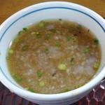 あさうどん - 「純手打ざるそば」蕎麦湯で割ったつゆ