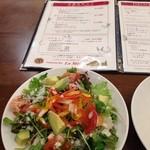 ラ・メーラ - お得なセット   サラダが大きい