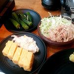 七輪焼肉安安 - 卵焼きやポテトサラダ、キャベツなども食べ放題(ランチ)