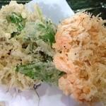 蕎仙 - サクサクの桜海老&しらすかき揚げ