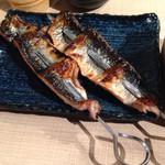 居酒屋まるし - 秋サンマの串焼き・・