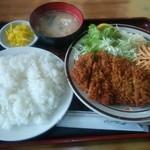 キッチン南海 - ロースカツ定食 750
