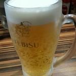 ラーメンつけ麺 笑福 - 生ビール