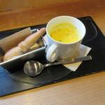 NARAYA CAFE - 本日のスープセット2015.10.29