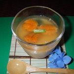 磯春 - 冷製ウニ茶碗蒸し。500円