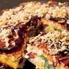 道とん堀 - 料理写真:美味しいお好み焼きで鉄板コミュニケーション♪