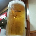 ドライブインみちしお - 生ビール 工場直送中ジョッキ [\520]