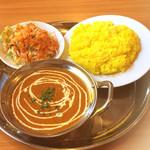 エビン - 料理写真:Aセット(キーマカレー/サラダ/ライス)