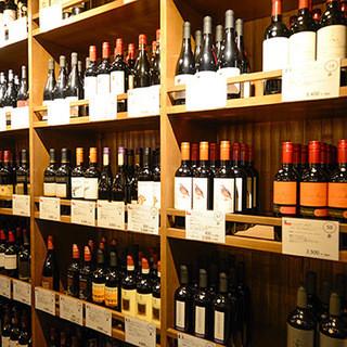 250種以上の豊富なボトルワイン!グラスワイン30種類ご用意