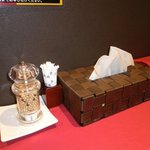 黄金の塩らぁ麺 Ayumi  - 上品なセッティング