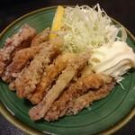 味春 - イカゲソ揚げ(¥350)コレ安くて美味い!