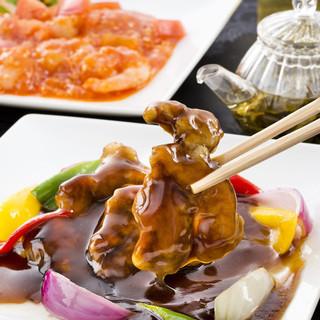 銘柄豚の酢豚黒酢ハチミツソース