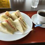 スポーツレストラン コースト - サンドイッチセット 850円