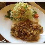 naru - 薬膳ランチ 陳皮とネギ醤油のグリルチキン