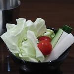 創作串揚 つだ - お代わり自由の野菜