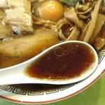 ふくや - 中華そば生卵入/スープ