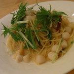 グランダム - 料理写真:貝柱と水菜のぺペロンチーノ(忘)