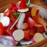 楽楽 - トマトたっぷり蒸篭蒸し