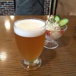 西荻ビール工房 - ブロンド&ポテトサラダ