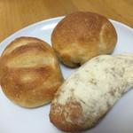 ミツバチ - 塩パン、ウインナーロール、きな粉パン