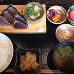 わらやき屋 - かつおの藁焼き定食