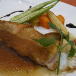 レストラン 客宝館 - 先日のランチのメイン、お肉料理です!