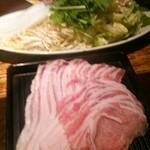 43920578 - 豚しゃぶ お肉 野菜は お替わり自由