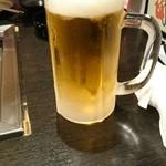 honkakuyakinikujukouenamatsubo - 生ビール