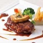 サンマルク - フォアグラのソテーと牛ロース肉のステーキ トリュフソース