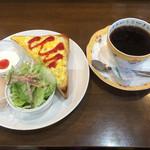パンプキン - ブレンドコーヒー400円と玉子トーストセット