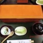 杉すし - ランチ ちらし寿司 二段になってます ¥1100