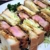 うまうま - 料理写真:厚切りカツサンド¥1380