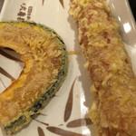 丸亀製麺 - かぼちゃとちくわ天