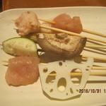 串家物語 - 4皿目、椎茸、エビ団子等