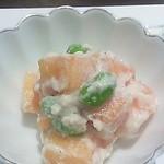 花こころ - 枝豆と柿の白和え