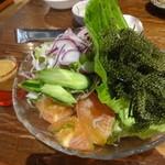 沖縄料理 ちゅらさん家 - 海ぶどうサラダ:743円外税