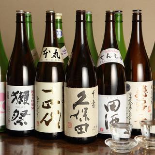 【日本酒】厳選日本酒が充実