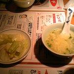 中国名菜 陳麻婆豆腐 - スープとキャベツ