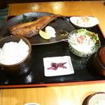 竜ヶ崎プラザホテル 四季亭 - ほっけ醤油定食1,150円(税別)