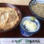 嘉津味屋 - カツ丼セット(もりそば)