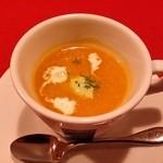 アルコバレーノ - 「南瓜の冷製スープ」です。