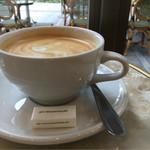 オーバカナル - ランチセットのカフェラテ。デカフェなのに美味!!!ホントにデカフェ??!!
