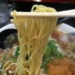 肉太郎 - 細ちょい縮れ麵