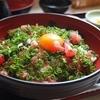 マグロのマルジン - 料理写真:お味噌汁も付いて ネギトロ丼800円 並 卵付で