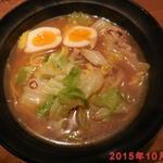 六寶 - 新菜ラーメン+クーポン煮玉子追加 ¥802(税込)