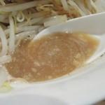 ラーメン 岩佐 - 太麺野菜 野菜Wのスープ