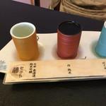 海鮮割烹 魚元 - 日本酒飲み比べ