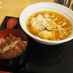 朱雀亭 - ミニソースカツ丼セット
