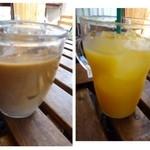 ビオ オジヤンカフェ - 私はオレンジジュースを頂きましたが、一般的なお味でした。
